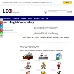 Jobs and work Vocabulary