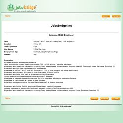 Jobsbridge.Inc-AngularJS/UX Engineer