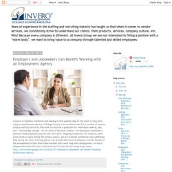Invero Group: Employers and Jobseekers Can Benefit Working with an Employment Agency