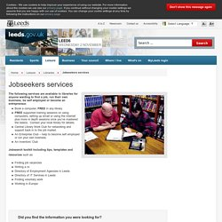 Jobseekers services