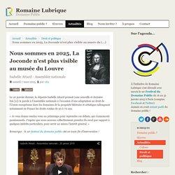 Nous sommes en 2025, La Joconde n'est plus visible au musée du Louvre