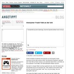 Jodel App: Anonymer Trash-Talk an der Uni