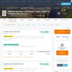 Jodhpur National University - [JNU], Jodhpur Courses & Fees 2017-2018