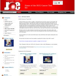 Joe Ball Company. HCG Cancer Test Kit