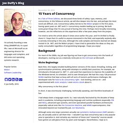 Joe Duffy - 15 Years of Concurrency