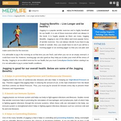 Jogging Benefits - Live Longer and be healthy ! - Medy Life
