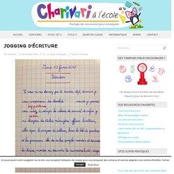 Jogging d'écriture – Charivari à l'école