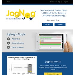 Test Prep Games - Fun Online Test Prep Games For Your Kids | JogNog: Everyone. Smarter.
