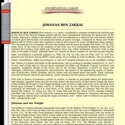 Johanan ben Zakkai