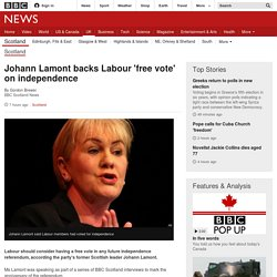 Johann Lamont backs Labour 'free vote' on independence - BBC News
