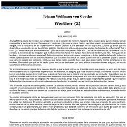 Johann Wolfgang von Goethe: Werther (2)