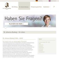 Dr. Johanna Budwig Stiftung: Dr. Johanna Budwig - Ihr Leben