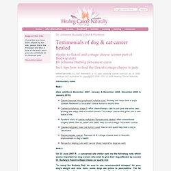 Dr Johanna Budwig's Diet & Protocol: Pet (Dog & Cat) Cancer Healing Testimonials