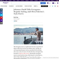 Johannes Huebl Talks Ferragamo, Bespoke Suiting, and Olivia Palermo's Style Don'ts