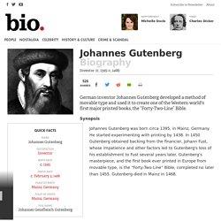 Johannes Gutenberg - Inventor