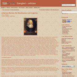 Johannes Bureus, the Renaissance rune magician « Gangleri – articles