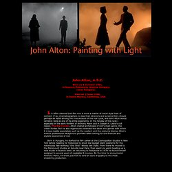 John Alton - Painting With Light