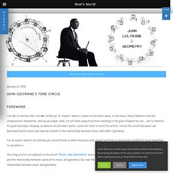 John Coltrane's Tone Circle