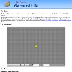 John Conways Game of Life