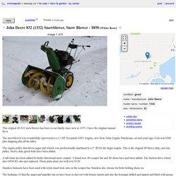 John Deere 832 (1332) Snowblower, Snow Blower