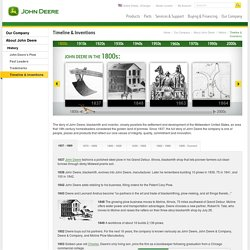 JohnDeere Timeline & Inventions