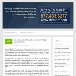 John A. DeMarr and Dating Websites