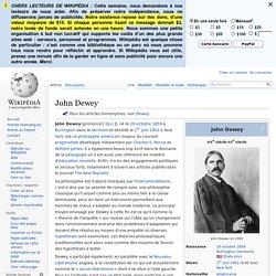 Modèle social - John DEWEY