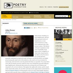 John Donne : The Poetry Foundation : Find Poems and Poets. Discover Poetry.