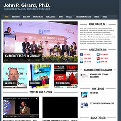 John Girard — Author, Speaker, Knowledge Management Consultant