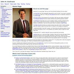 John H. Cochrane - Homepage