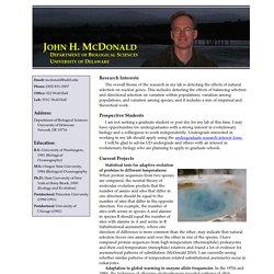 John H. McDonald's home page