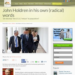 John Holdren in his own (radical) words