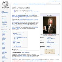 1715 John Law Ministre des Finances
