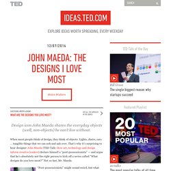 John Maeda: The designs I love most