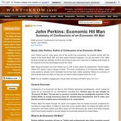 John Perkins: Economic Hit Man