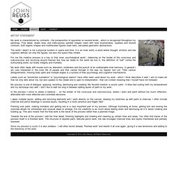 John Reuss - Declaración del artista