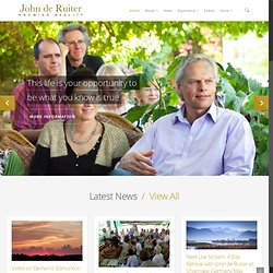 The official website of Author and Philosopher John de Ruiter.