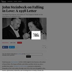 John Steinbeck on Falling in Love: A 1958 Letter