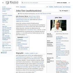John Tate (mathématicien)