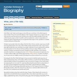 John White - Australian Dictionary of Biography