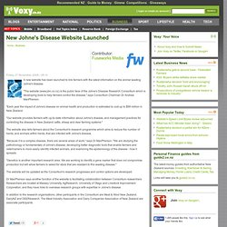 VOXY 27/11/09 New Johne's Disease Website Launched