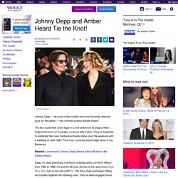 Johnny Depp and Amber Heard Tie the Knot!