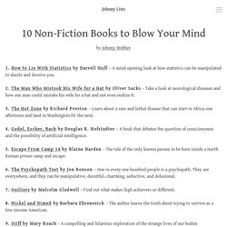 Johnny Lists — 10 Non-Fiction Books to Blow Your Mind