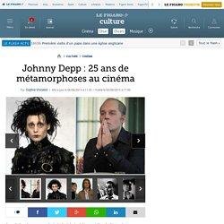 Johnny Depp : 25 ans de métamorphoses au cinéma
