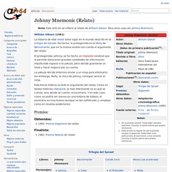 Johnny Mnemonic (Relato) - Alt64-wiki