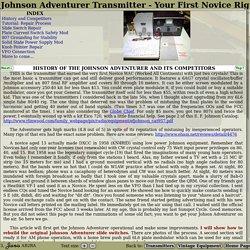 Johnson Adventurer Transmitter - Your First Novice Rig