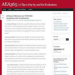 aea365 Website Analytics