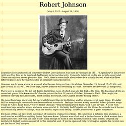 Robert Johnson complete works - MP3 downloads and photos