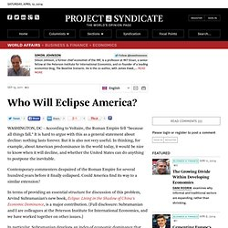 Who Will Eclipse America? - Simon Johnson