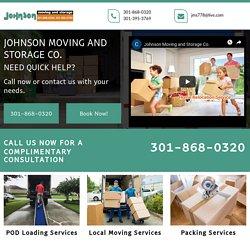 Johnson Moving, POD loading & unloading Fairfax County VA